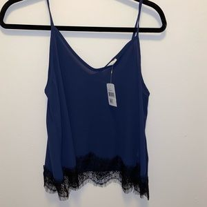 Lace detail tank perfect for date night